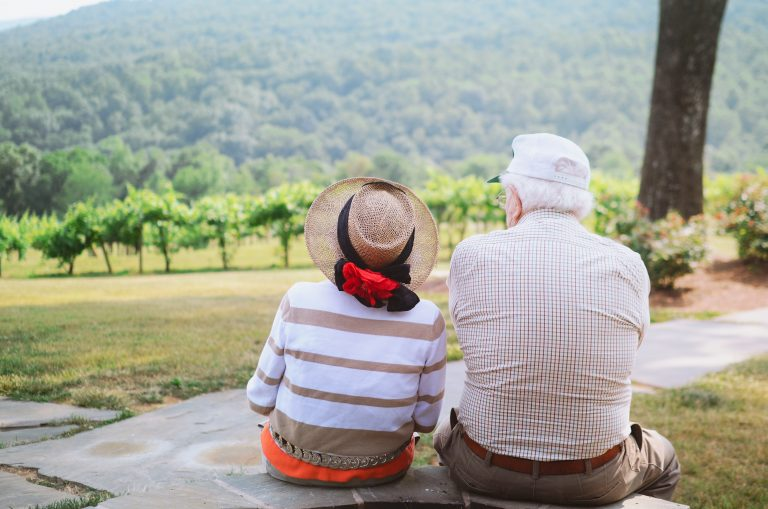 Older couple for intimacy in aged care